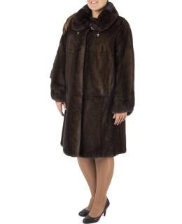 Полупальто из меха норки, цвет: Махагон - купить за 212300 в магазине - Гипермаркет меха