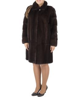 Полупальто из меха норки, цвет: Махагон - купить за 236000 в магазине - Гипермаркет меха