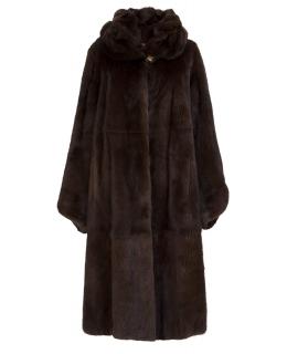 Пальто из меха норки, цвет: Махагон - купить за 261300 в магазине - Гипермаркет меха