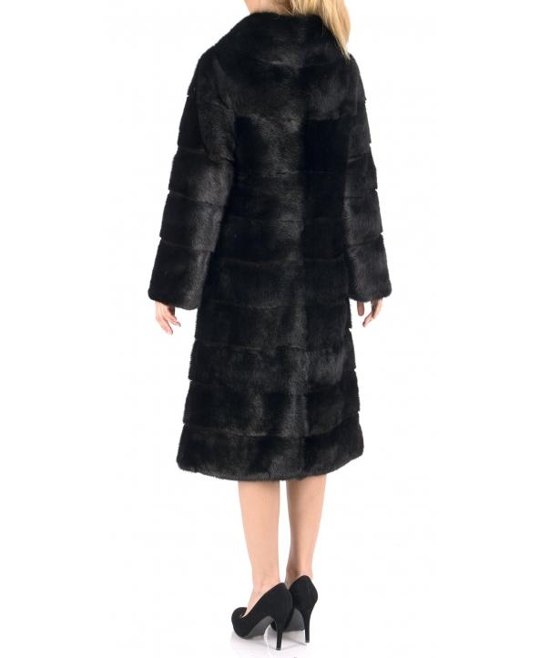 Полупальто из меха норки, цвет: Чёрный - купить за 120000 в магазине - Гипермаркет меха