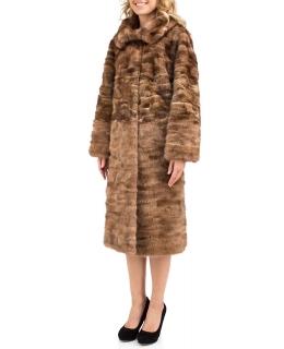 Пальто из меха норки, цвет: Золотой - купить за 60000 в магазине - Гипермаркет меха