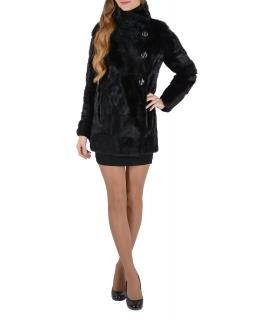 Полупальто из меха норки, цвет: Чёрный, отделка Поперечка - купить за 75000 в магазине - Гипермаркет меха