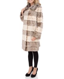 Полупальто из меха норки, цвет: Белый / Серый - купить за 60000 в магазине - Гипермаркет меха