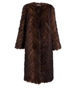 Пальто из меха норки, цвет: Коричневый - купить за 96400 в магазине - Гипермаркет меха