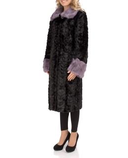 Пальто из меха норки, цвет: Чёрный / Цветной - купить за 96400 в магазине - Гипермаркет меха