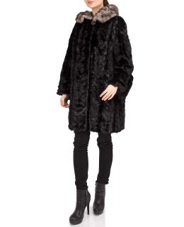 Полупальто из меха норки, цвет: Чёрный - купить за 60000 в магазине - Гипермаркет меха
