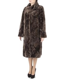 Пальто из мутона, цвет: Дымка, отделка Каракуль - купить за 32000 в магазине - Гипермаркет меха