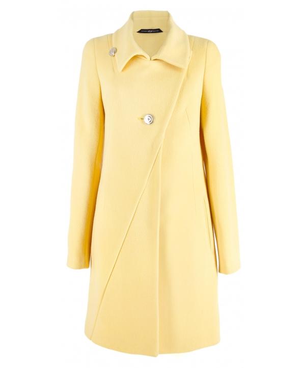 Пальто из шерсти, цвет: Жёлтый - купить за 5200 в магазине - Гипермаркет меха