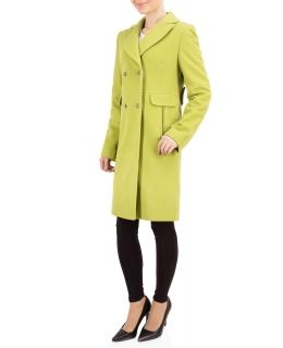Пальто из шерсти, цвет: Салатовый - купить за 5200 в магазине - Гипермаркет меха