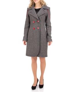 Пальто из шерсти, цвет: Серый - купить за 4800 в магазине - Гипермаркет меха