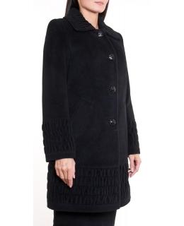 Пальто из шерсти, цвет: Чёрный - купить за 6200 в магазине - Гипермаркет меха