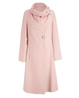 Пальто из шерсти, цвет: Розово-бежевый - купить за 8000 в магазине - Гипермаркет меха