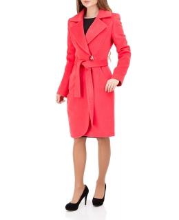 Пальто из шерсти, цвет: Коралловый - купить за 29000 в магазине - Гипермаркет меха