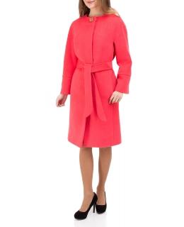 Пальто из шерсти, цвет: Коралловый - купить за 31000 в магазине - Гипермаркет меха