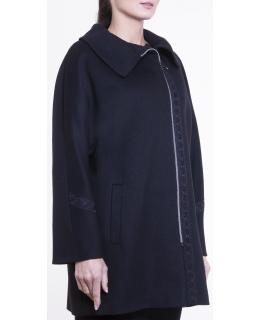Пальто из шерсти, цвет: Чёрный пресс - купить за 8000 в магазине - Гипермаркет меха