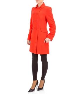 Пальто из шерсти, цвет: Оранжевый - купить за 8000 в магазине - Гипермаркет меха