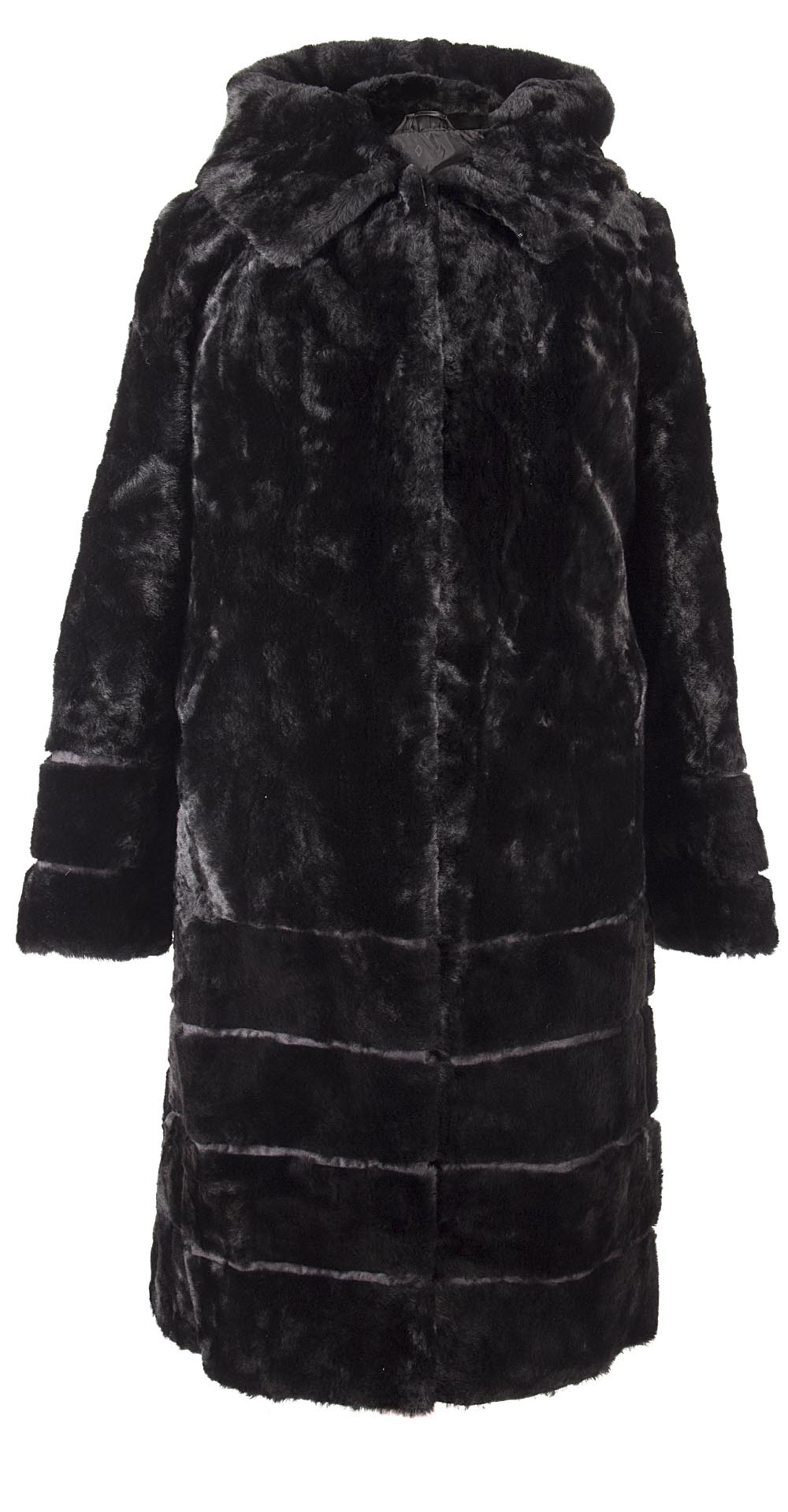 Пальто из мутона, цвет: Чёрный - купить за 32000 в магазине - Гипермаркет меха