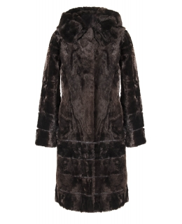 Пальто из мутона, цвет: Шоколад - купить за 32000 в магазине - Гипермаркет меха