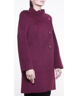 Пальто из шерсти, цвет: Сливовый - купить за 6400 в магазине - Гипермаркет меха