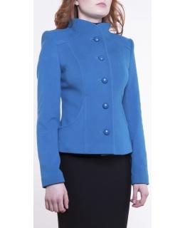 Пальто из шерсти, цвет: Бирюзовый - купить за 4000 в магазине - Гипермаркет меха