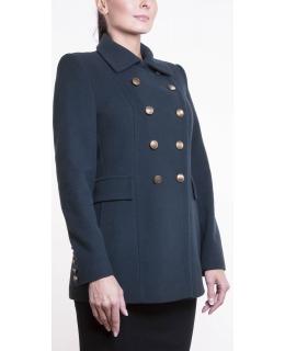Пальто из шерсти, цвет: Зелёный - купить за 9000 в магазине - Гипермаркет меха