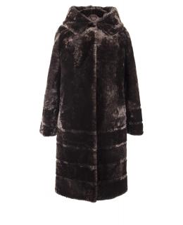 Пальто из мутона, цвет: Дымка - купить за 32000 в магазине - Гипермаркет меха