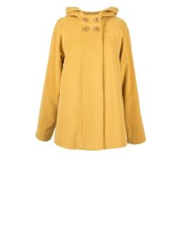 Пальто из шерсти, цвет: Шафран - купить за 9000 в магазине - Гипермаркет меха