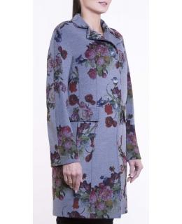 Пальто из текстиля, цвет: Букет роз - купить за 14700 в магазине - Гипермаркет меха