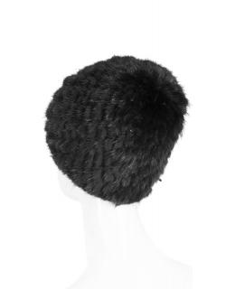 Головной убор из меха норки, цвет: Чёрный, отделка Вязка - купить за 8000 в магазине - Гипермаркет меха