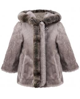 Пальто детское из мутона, цвет: Серый, отделка Рекс - купить за 8800 в магазине - Гипермаркет меха