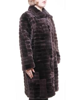 Полупальто из меха бобра, цвет: Графит - купить за 31900 в магазине - Гипермаркет меха