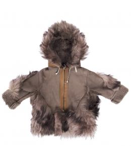 Пальто детское из овчины, цвет: Коричневый, отделка Тоскана - купить за 8700 в магазине - Гипермаркет меха