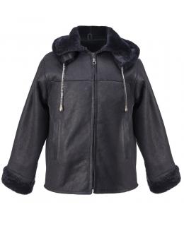 Пальто детское из овчины, цвет: Синий - купить за 10200 в магазине - Гипермаркет меха