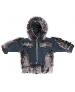 Пальто детское из овчины, цвет: Зелёный, отделка Тоскана - купить за 8700 в магазине - Гипермаркет меха