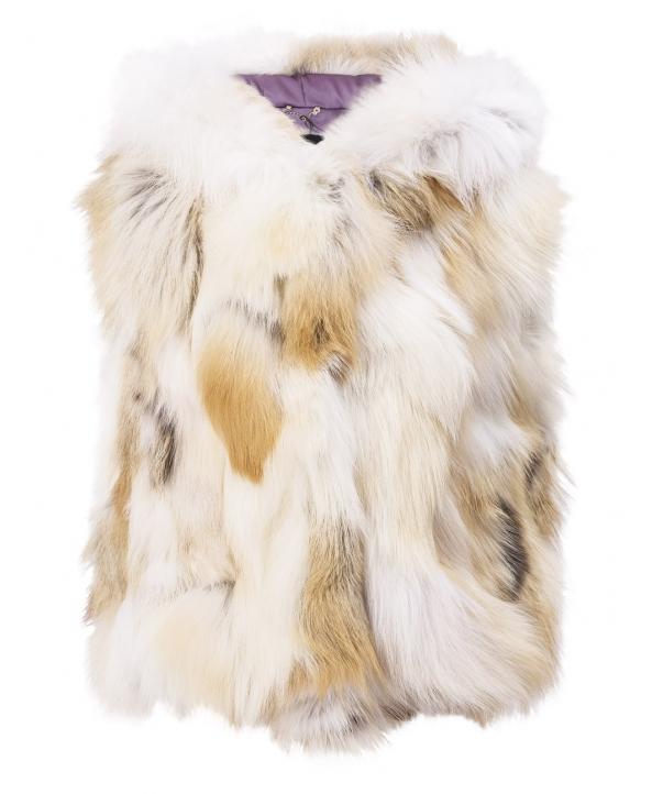 Жилет детский из меха лисы, цвет: Натуральный (лиса) - купить за 8700 в магазине - Гипермаркет меха