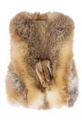 Жилет детский из меха лисы
