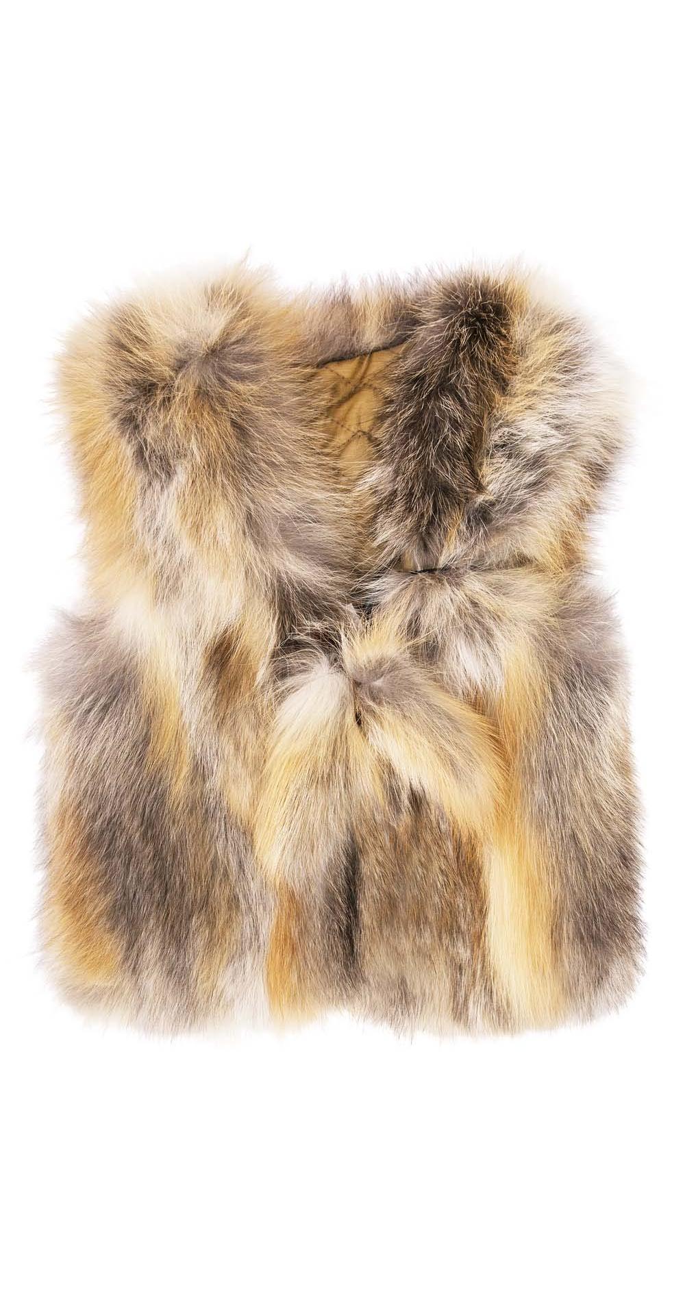 Жилет детский из меха лисы, цвет: Натуральный (лиса) - купить за 5800 в магазине - Гипермаркет меха