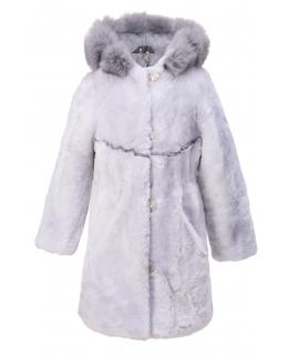 Пальто детское из мутона, цвет: Голубой, отделка Песец - купить за 16800 в магазине - Гипермаркет меха