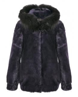 Пальто детское из мутона, цвет: Бордо, отделка Песец - купить за 14500 в магазине - Гипермаркет меха