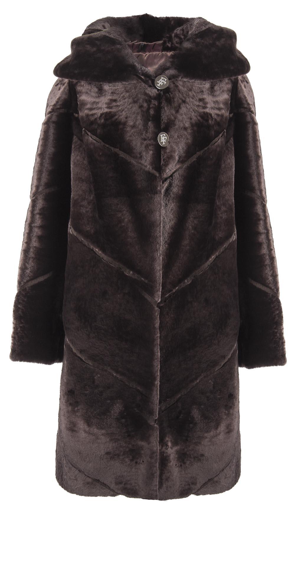 Пальто детское из мутона, цвет: Жёлтый - купить за 9900 в магазине - Гипермаркет меха