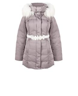 Куртка из полиэстера, цвет: Серый, отделка Искуственный мех - купить за 8600 в магазине - Гипермаркет меха