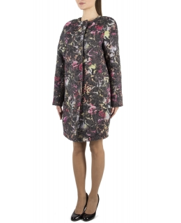 Пальто из текстиля, цвет: Мультиколор, отделка Шерсть - купить за 20000 в магазине - Гипермаркет меха