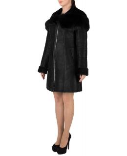 Дублёнка из овчины, цвет: Чёрный, отделка Тоскана - купить за 39600 в магазине - Гипермаркет меха