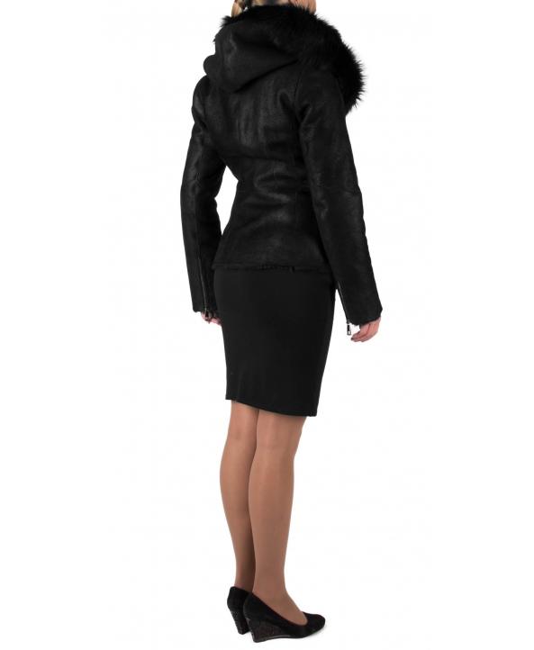 Дублёнка из овчины, цвет: Чёрный, отделка Тоскана - купить за 30000 в магазине - Гипермаркет меха