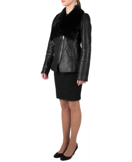 Дублёнка из овчины, цвет: Чёрный - купить за 36000 в магазине - Гипермаркет меха