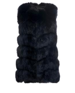 Жилет из меха песца, цвет: Тёмно-синий - купить за 39800 в магазине - Гипермаркет меха