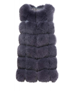 Жилет из меха песца, цвет: Серый - купить за 39800 в магазине - Гипермаркет меха