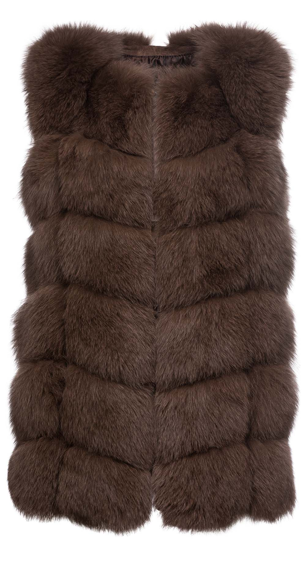 Жилет из меха песца, цвет: Светло-коричневый - купить за 39800 в магазине - Гипермаркет меха