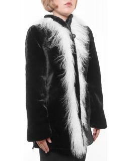 Полупальто из мутона, цвет: Чёрный, отделка Лама - купить за 37400 в магазине - Гипермаркет меха