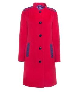 Пальто из шерсти, цвет: Красный - купить за 6000 в магазине - Гипермаркет меха